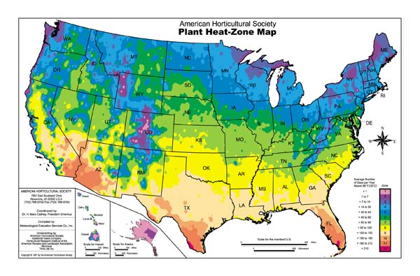 Garden Heat Zone Map